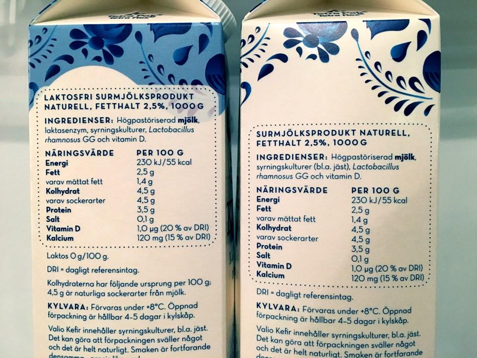 Laktosbluffen ingredienser